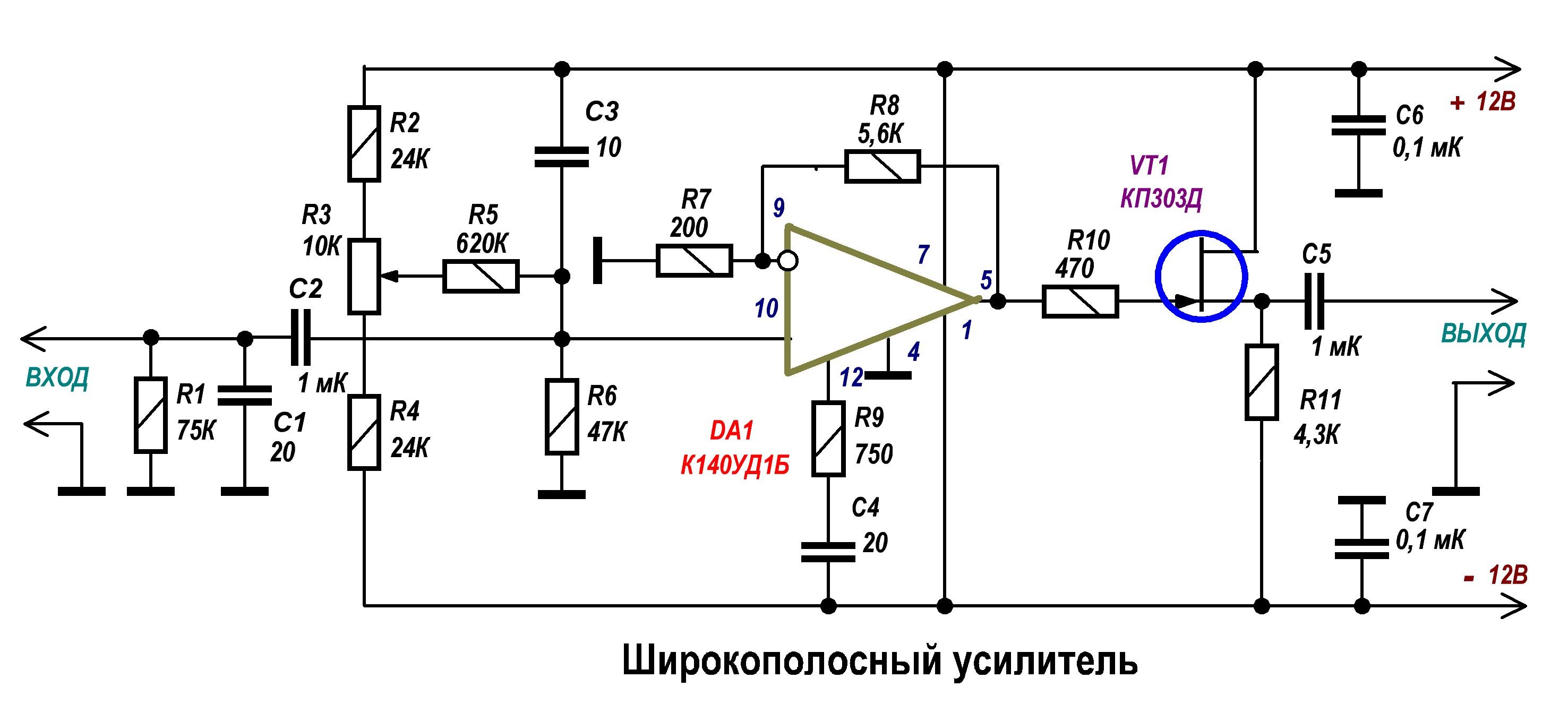 Схемы импульсного сигнала