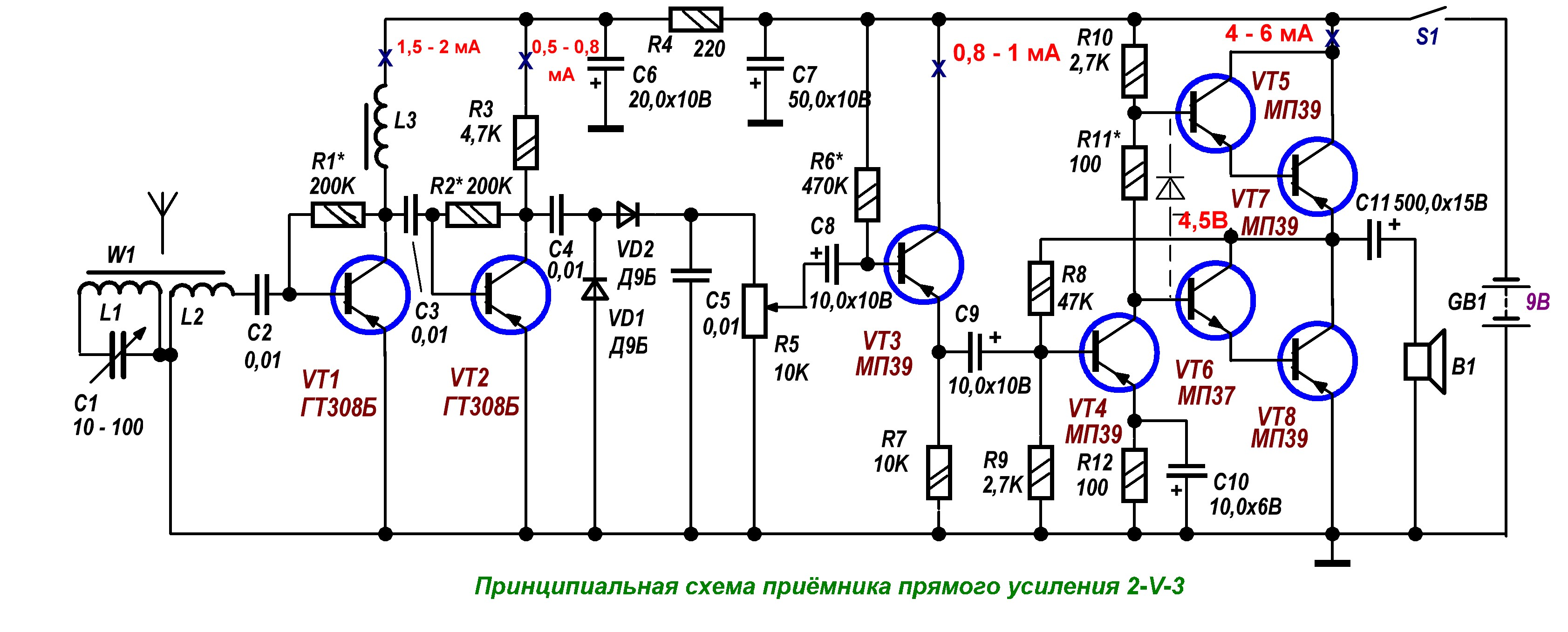 Простые схемы фм приемников на транзисторах